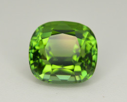 Amazing Color 3.85 Ct Parrot Green Tourmaline From Afghanistan