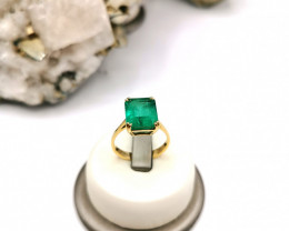 4,95ct Colombian Emerald 18k Solid Gold Ring Colombian Emerald Colombian E