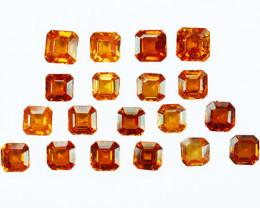 17.05Ct Natural Fanta Orange Spessartite garnet Square 5mm Parcel Namibia