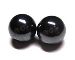 25.08tcw Hematite Natural Matching Round Beads