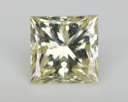 0.85 CTS , Natural Champagne Yellow Diamond , Square Diamante
