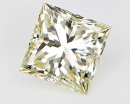 0.85 CTS , Natural Champagne Yellow Diamond , Square Diamante