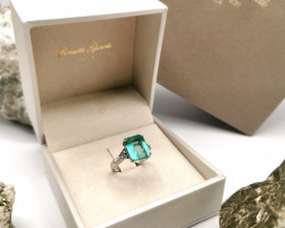 4,71ct Colombian Emerald 18k Solid Gold Ring Ref 14/76
