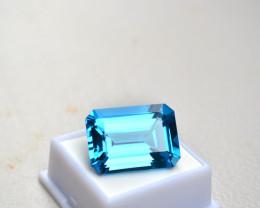 49.43 Carat Octagon Cut Top Jewelry Grade Swiss Blue Topaz