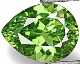 Namibia Demantoid Garnet, 0.89 Carats, Fiery Green Pear
