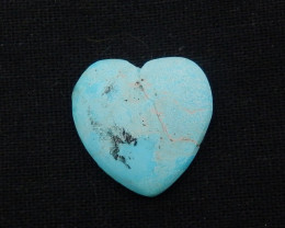 26cts lovely natural heart shape turquoise cabochon beads G33