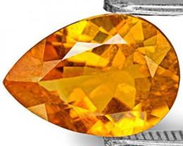 Tanzania Clinohumite, 1.48 Carats, Bright Golden Orange Pear