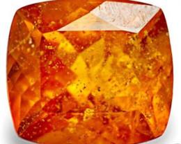 Tanzania Clinohumite, 1.75 Carats, Deep Orange Cushion