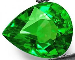 Kenya Tsavorite Garnet, 0.86 Carats, Electric Green Pear