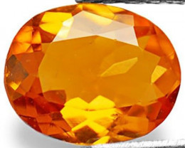 Tanzania Clinohumite, 0.66 Carats, Fiery Orange Oval