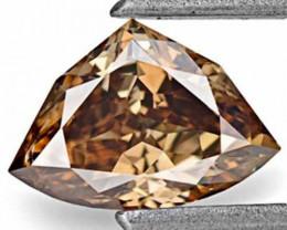 Australia Fancy Color Diamond, 0.78 Carats, Fancy Deep Chocolate Brown