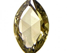 South Africa Fancy Color Diamond, 0.19 Carats, Intense Olive Green Marquise