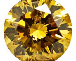 South Africa Fancy Color Diamond, 0.07 Carats, Vivid Golden Yellow Round