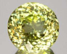 8.91 Cts Gorgeous Natural Green Sillimanite Round Cut Gem