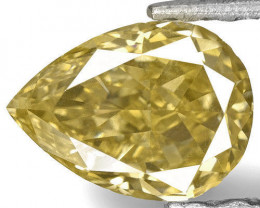 IGI Certified Angola Fancy Color Diamond, 0.75 Carats, Fancy Golden Yellow