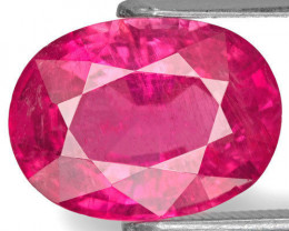 AIGS Certified Mozambique Rubellite Tourmaline, 3.89 Carats, Oval