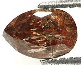 Guinea Fancy Color Diamond, 1.01 Carats, Champagne Pear