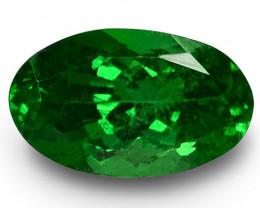 Kenya Tsavorite Garnet, 1.70 Carats, Dark Green Oval