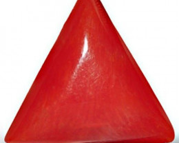Italy Coral, 5.21 Carats, Light Orangy Red Triangular