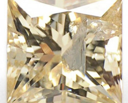 Guinea Diamond, 0.94 Carats, Light Brown (Even) Princess