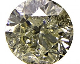 South Africa Fancy Color Diamond, 0.45 Carats, Vivid Yellowish Green Round