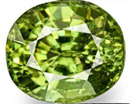 Namibia Demantoid Garnet, 0.67 Carats, Bright Deep Green Oval