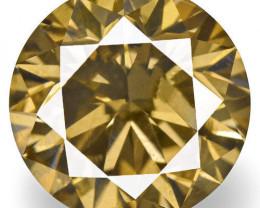 Guinea Fancy Color Diamond, 0.76 Carats, Fancy Dark Brown Round