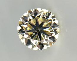 1.01 cts , Round Diamond , Light Yellow Color Diamond