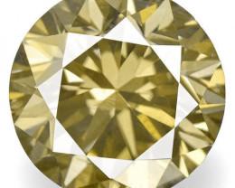 Guinea Fancy Color Diamond, 0.74 Carats, Fancy Brownish Yellowish Green