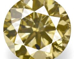 Guinea Fancy Color Diamond, 0.72 Carats, Fancy Intense Brown Round
