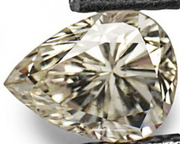 """Guinea Diamond, 0.67 Carats, J (On a Scale of """"D"""" to """"Z"""") Pear"""