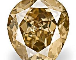 Australia Fancy Color Diamond, 0.62 Carats, Fancy Champagne Brown Fancy Cut