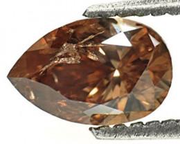 Guinea Fancy Color Diamond, 1.02 Carats, Chocolate Pear