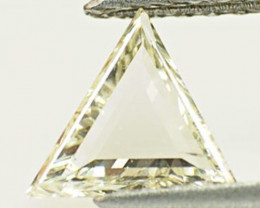 "Guinea Diamond, 0.58 Carats, K (On a Scale of ""D"" to ""Z"") Trilliant"