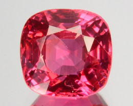 ~STUNNING~ 1.35 Cts Natural Pinkish Red Spinel Cushion Cut Brumese