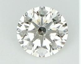 0.18 cts , Yellow Natural Diamond , Round Brilliant Diamond