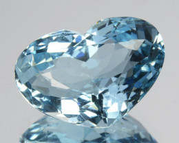 3.23 Cts Natural Beautiful Blue Aquamarine Lovely Heart Cut Brazil