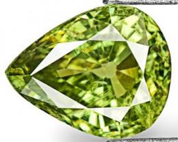 Namibia Demantoid Garnet, 0.68 Carats, Neon Green Pear