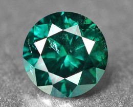 0.19 Cts Sparkling Rare Fancy Blue Green Color Natural Loose Diamond