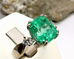 4,85ct Colombian Emerald 18k Solid Gold Ring  Ref 16/76