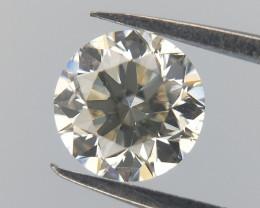0.327 , Light Champagne Diamond , Natural Round Diamond