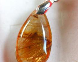 Natural Titanium crystal 925 Silver Pendant