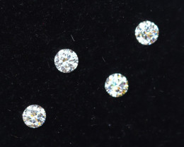 1.9mm D-F Brilliant Round VVS Loose Diamond 4pcs