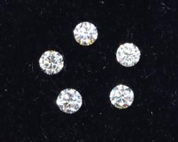 1.6mm D-F Brilliant Round VS Loose Diamond 5pcs