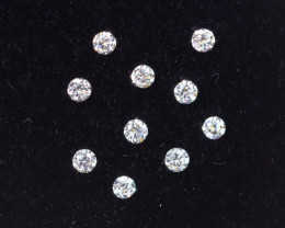 1.3mm D-F Brilliant Round VS Loose Diamond 10pcs / RD1221
