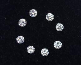 1.5mm D-F Brilliant Round VS Loose Diamond 8pcs