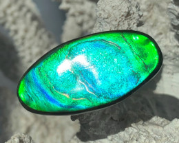 BEAUTY Blue Green Purple Color Changing Natural Ammolite Gem BIG
