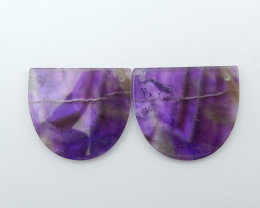 69cts Amethyst Earrings Square earrings beads, stone for earrings making G4