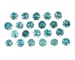 ~SPARKLING~ 4.68 Cts Natural Blue Zircon 3.5-.3.3mm Round 22Pcs Cambodia