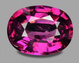3.18 Cts Unheated Natural Cherry Pinkish Red Rhodolite Garnet Gemstone